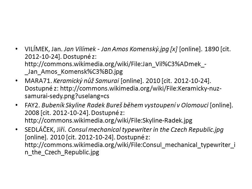 VILÍMEK, Jan. Jan Vilímek - Jan Amos Komenský. jpg [x] [online]